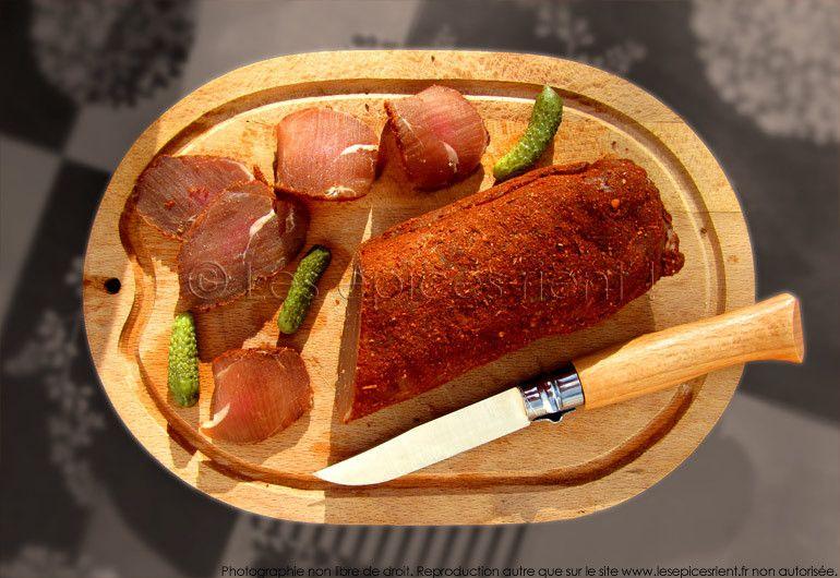 Filet mignon de porc séché aux épices
