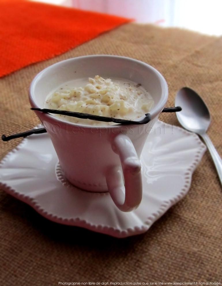 Riz au lait onctueux et vanillé